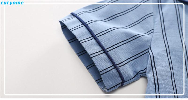 korean fashion toddler kids striped pajamas set14