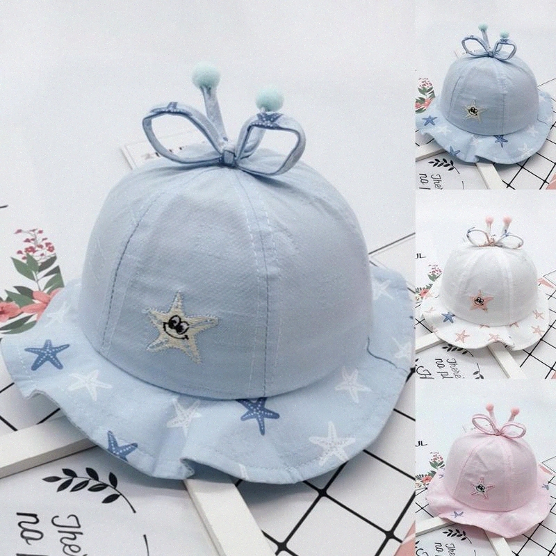 Pour Filles Bébé Bébé papillon chapeaux coton Bébé Chapeaux Infant Sun Chapeaux Casquettes