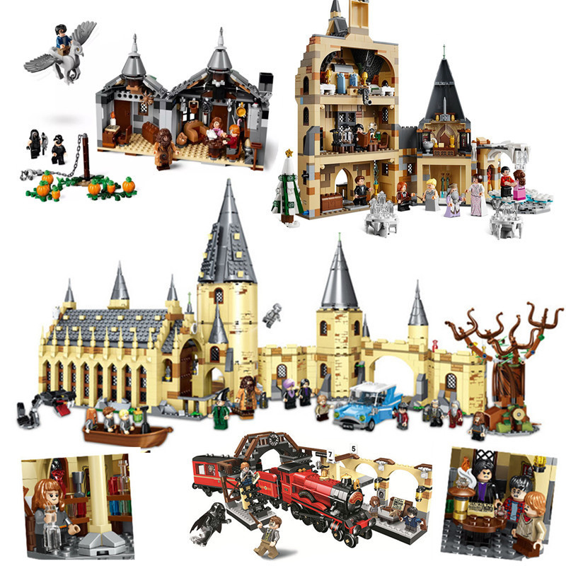 Harri-Movie-Castle-Express-Train-Clock-Tower-legoinglys-75951-75953-75954-75955-75956-75948-Building-Blocks