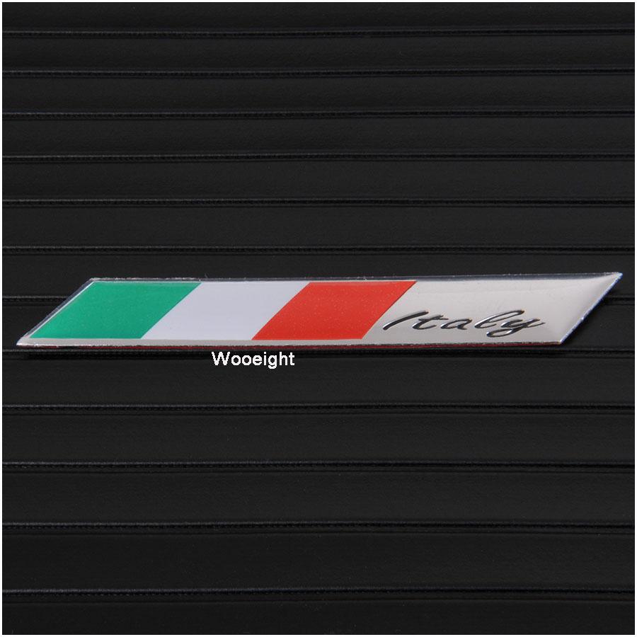 1Pc 3D Aluminum Italy Emblem Badge Flag Car Stickers Fender Trunk Decoration For Audi BMW VW Alfa Romeo FIAT Honda Benz (8)