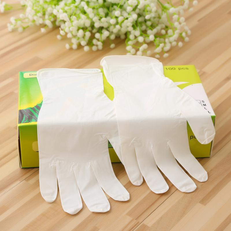 In Stock!!Disposable Latex Rubber Gloves White Protective Gloves Hot Selling Household Cleaning Nitrile Antibacterial Gloves