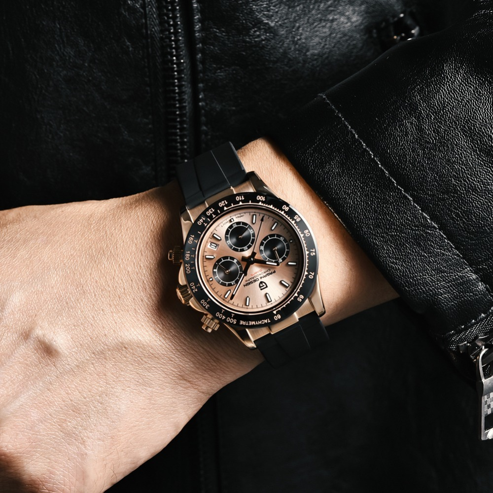 2020 New PAGANI DESIGN Mens Quartz Watches Automatic Date Luxury Gold Wristwatch Men Waterproof Chronograph Japan  VK63 Clock man dropshipping (39)