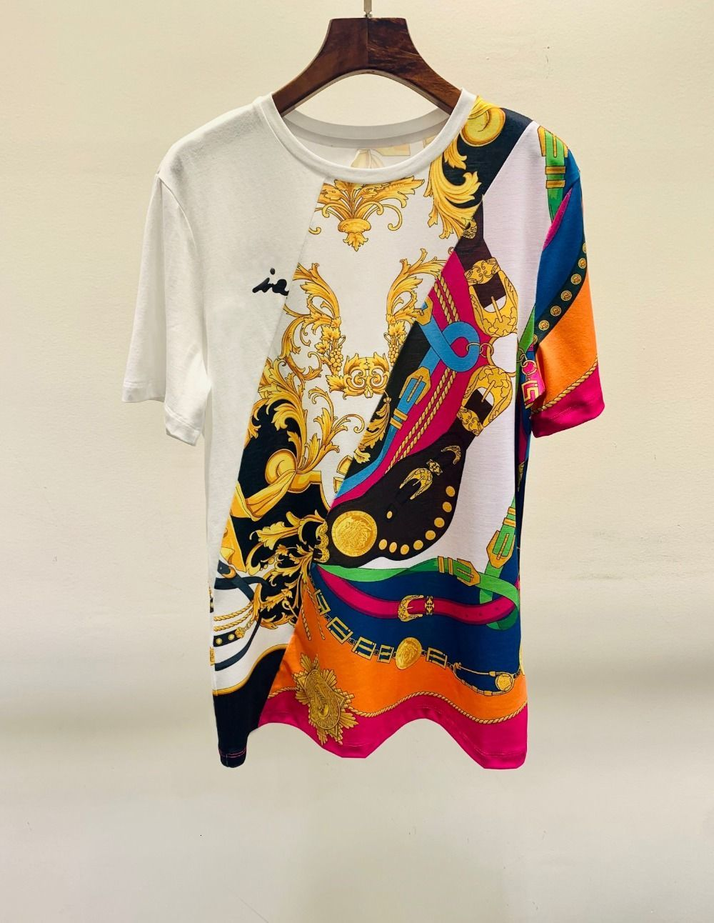 2021 Summer White Woman Graphics T-shirt Designer Luxury Women's Clothes Ebb9