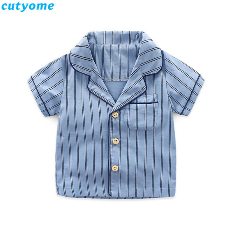 korean fashion toddler kids striped pajamas set06