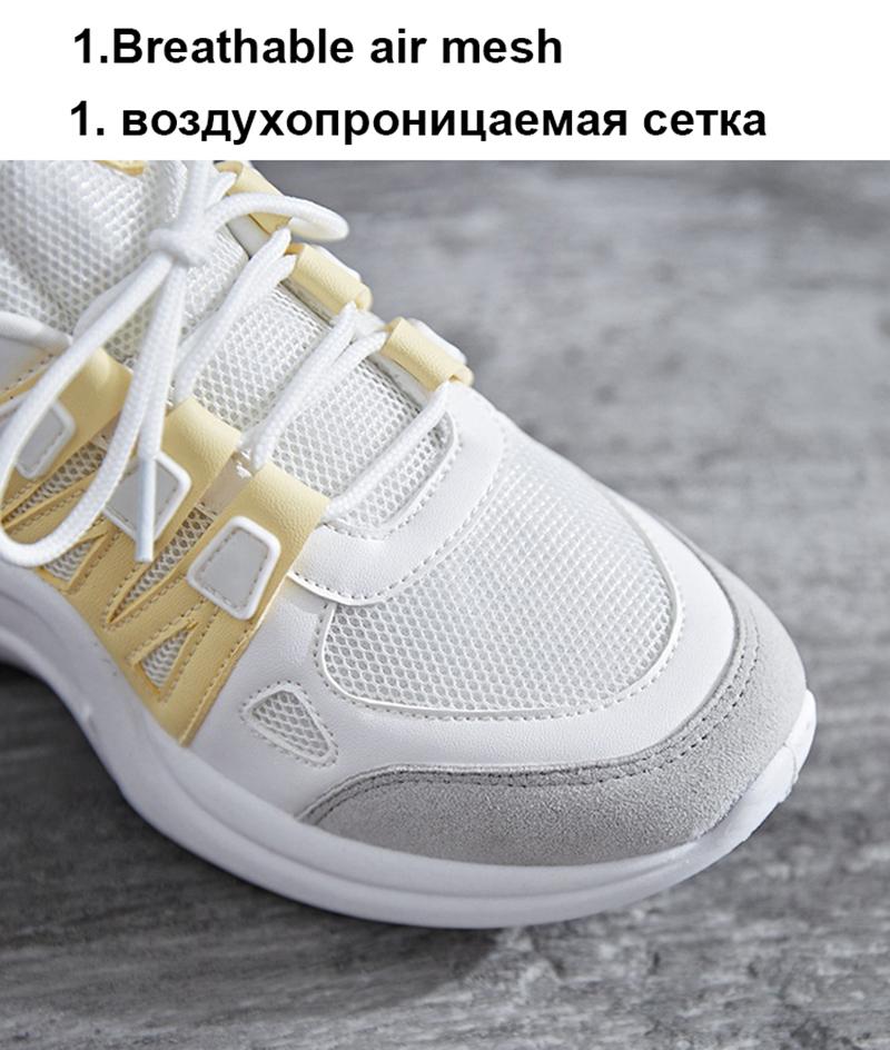 TEMOFON women chunky sneakers women casual vulcanize shoes casual fashion white ladies shoes plus size deportivas mujer HVT602 (25)