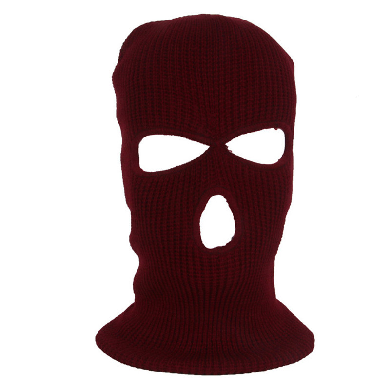 Full Face Mask Ski Mask Winter facemask Cap Balaclava Hood Army Tactical Mask 3 Hole cycling winter mask #4n26 (6)