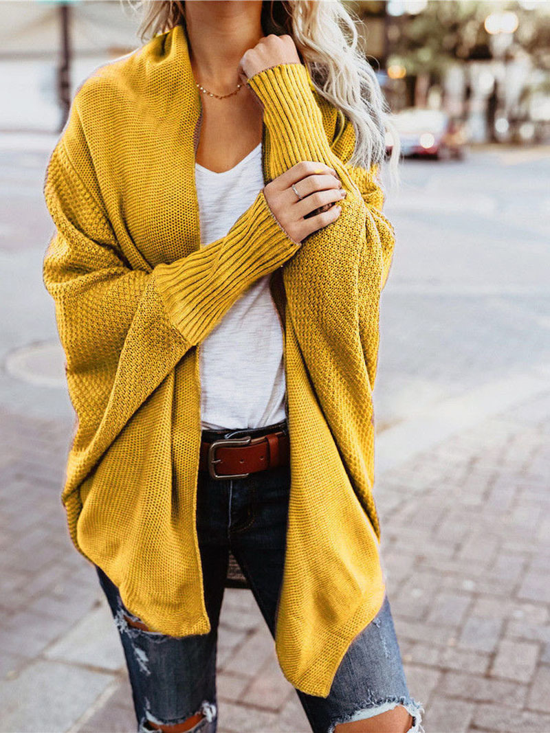 2019 winter new women sweaters casual plus size batwing sleeve kintted winter women cardigan ladies tops clothing (16)