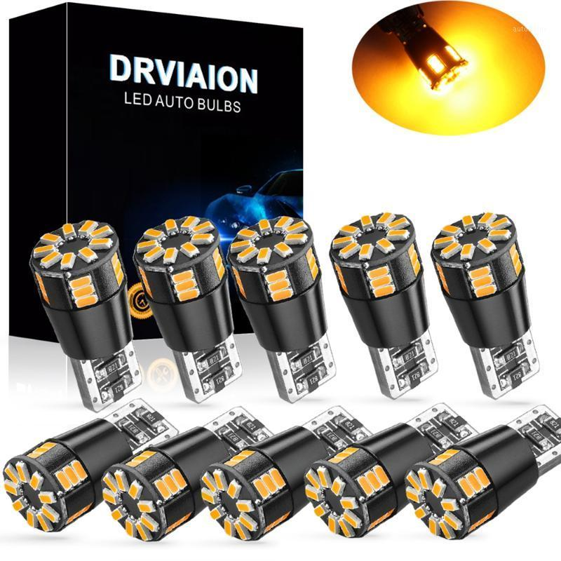 Emergency Lights 10x T10 W5W LED Bulb CANBUS Error Free 2825 194 3014 24SMD Car Accessories Clearance Reading Lamp Auto Yellow Blue Red1