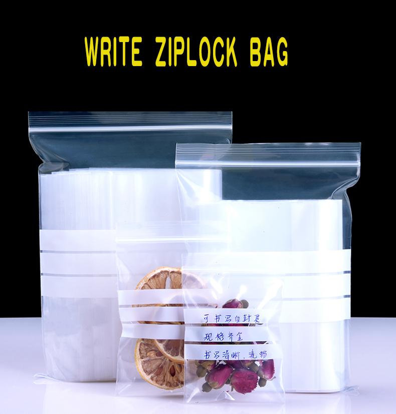 1 Writable,compact,ziplock,plastic pocket,sealed bag,food,packaging,medicine,sample bag,parts,dried zipper,selfstyled,reseal,bump,fresh,home,office,daily fruit,tea,nut (2)