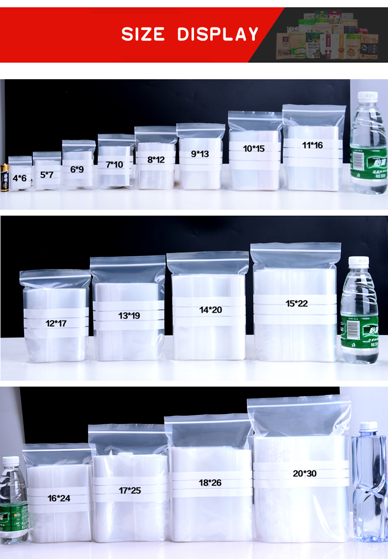 1 Writable,compact,ziplock,plastic pocket,sealed bag,food,packaging,medicine,sample bag,parts,dried zipper,selfstyled,reseal,bump,fresh,home,office,daily fruit,tea,nut (4)