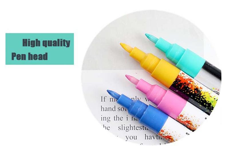 18 ColorsSet 0.7mm Acrylic Paint Marker pen for Ceramic Rock Glass Porcelain Mug Wood Fabric Canvas Painting Detailed Marking (37)