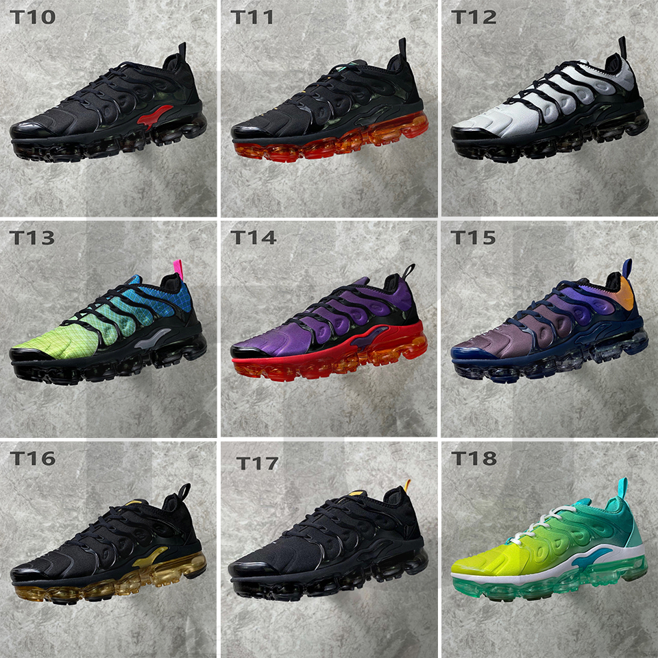 Top Quality Tn PLUS Rainbow Persian Violet Lemon Lime stylist Shoes For Men Overbranding Triple Game Royal Women Running Sneakers runers