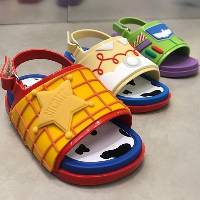 New Kids Cartoon Summer Sandal Mini Melissa fashion jelly shoes for girl and boy Childre PVC Candy Shoes Boy Sandal HMI004 Y200619