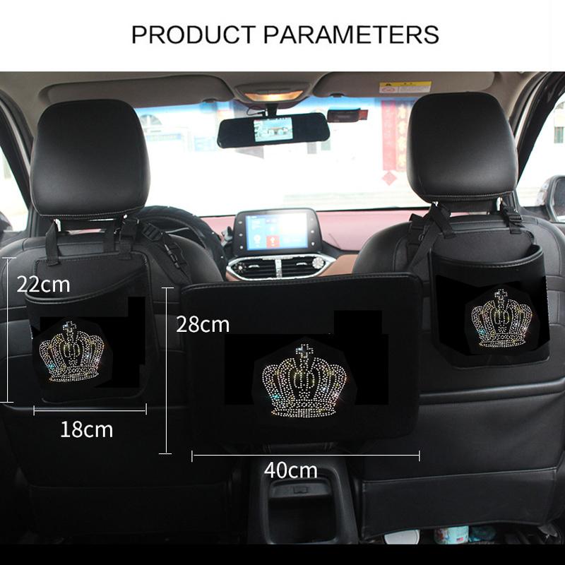Diamond-Crown-Car-Storage-Bag-Hanging-Rhinestone-Auto-Organizer-Pocket-Barrier-of-Backseat-Holder-481
