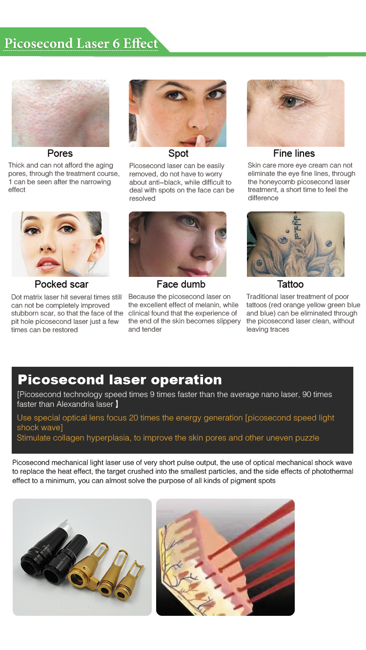 2017 portable Picosure picosecond laser for all pigment removal and tattoo removal