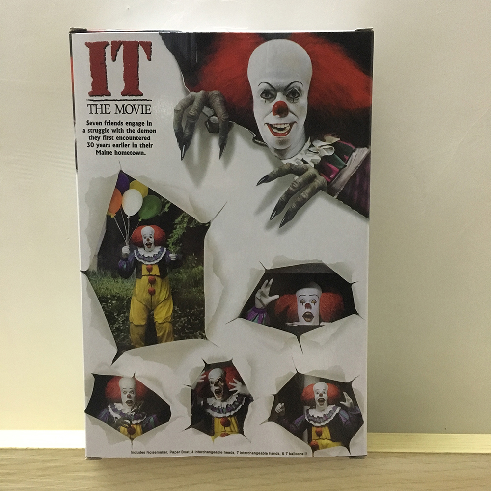 Horror Movie It Character NECA Joker With Balloons Pennywise Action Figure Model Toy for Christmas Halloween Gifts (01)