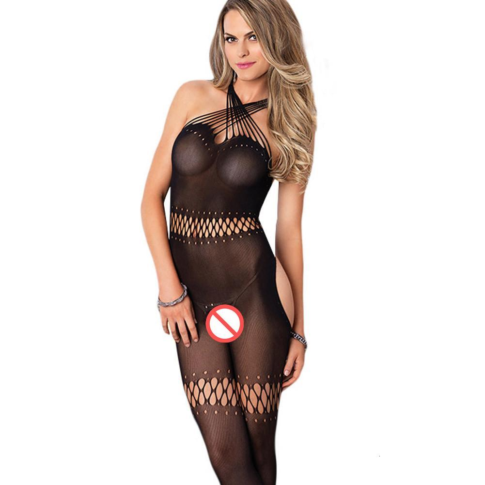 Straps open sexy socks Sexy lingerie new black chest hanging neck cross