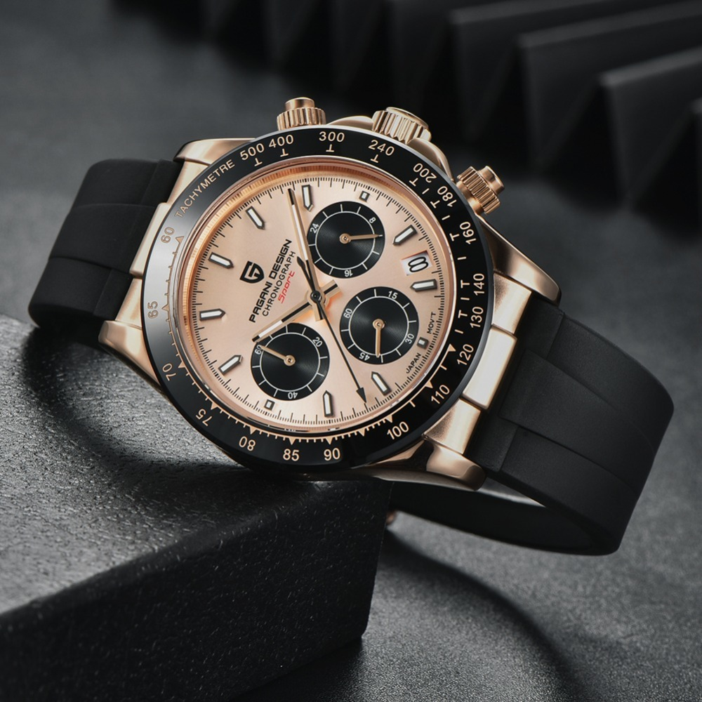 2020 New PAGANI DESIGN Mens Quartz Watches Automatic Date Luxury Gold Wristwatch Men Waterproof Chronograph Japan  VK63 Clock man dropshipping (60)