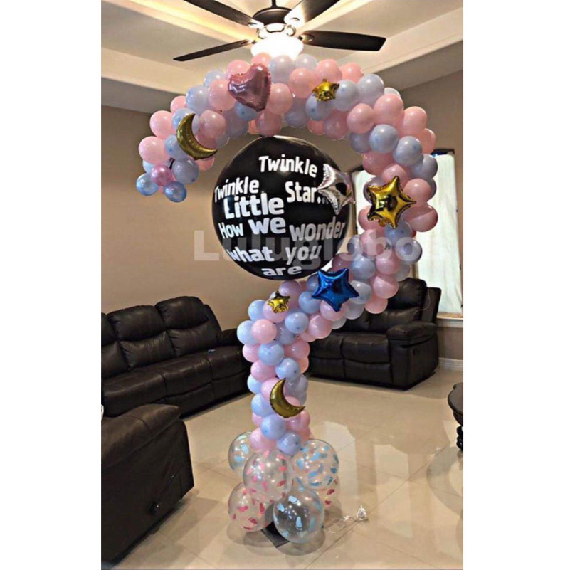 question mark balloon stand frame -1