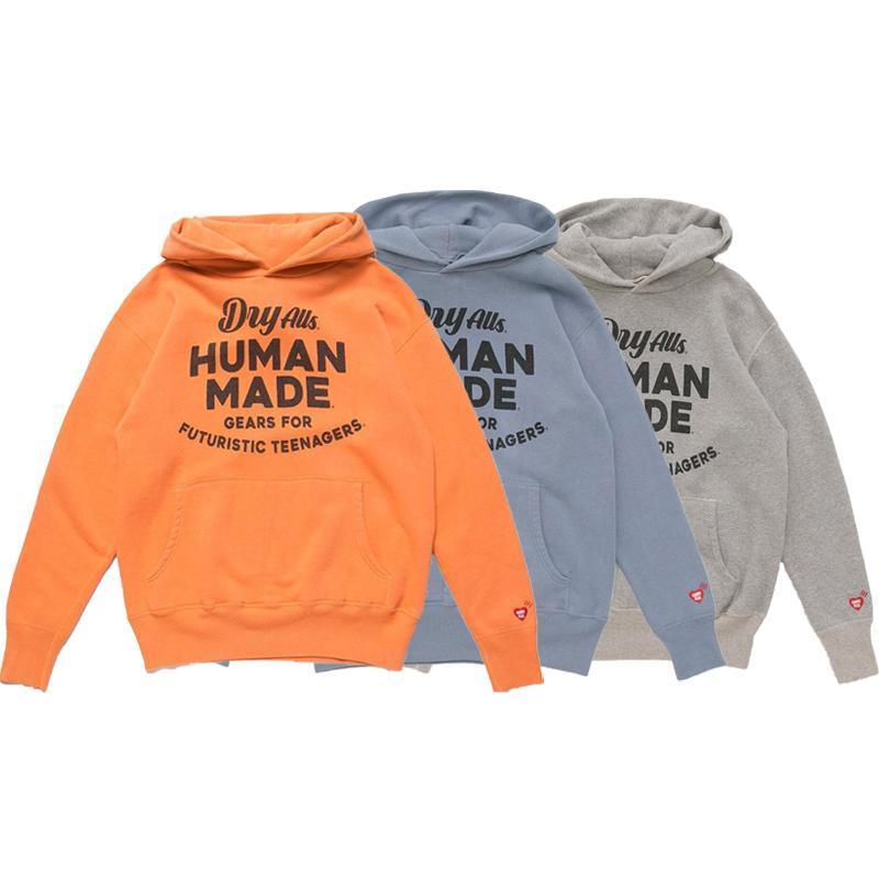 20AW Orange Blue Grey Printed Women Men Hoodies Sweatshirt Men Cotton Hoodie Pullover