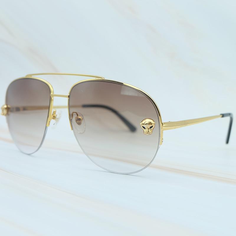 Metal Frame Luxury Carter Leopard Serious Mens Sunglasses Outdoor Driving Shades Leisure Brand Designer Sun Glass (4)