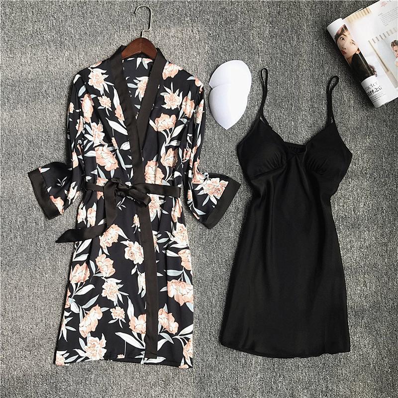 2 Robes Set Black