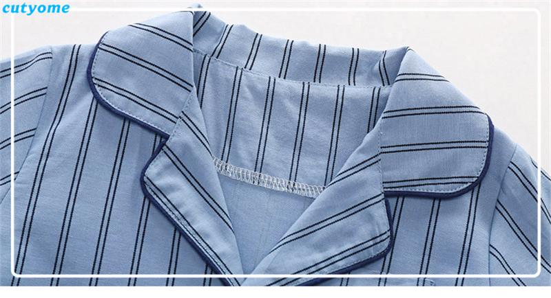 korean fashion toddler kids striped pajamas set12