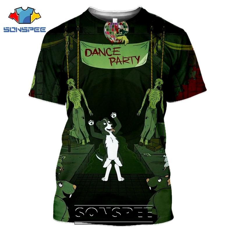 SONSPEE 3D Print Mr Pickles T-shirts Men Women Casual Harajuku Short Sleeve Streetwear Hip Hop Anime Satan Evil Tees Tops Shirt (15)