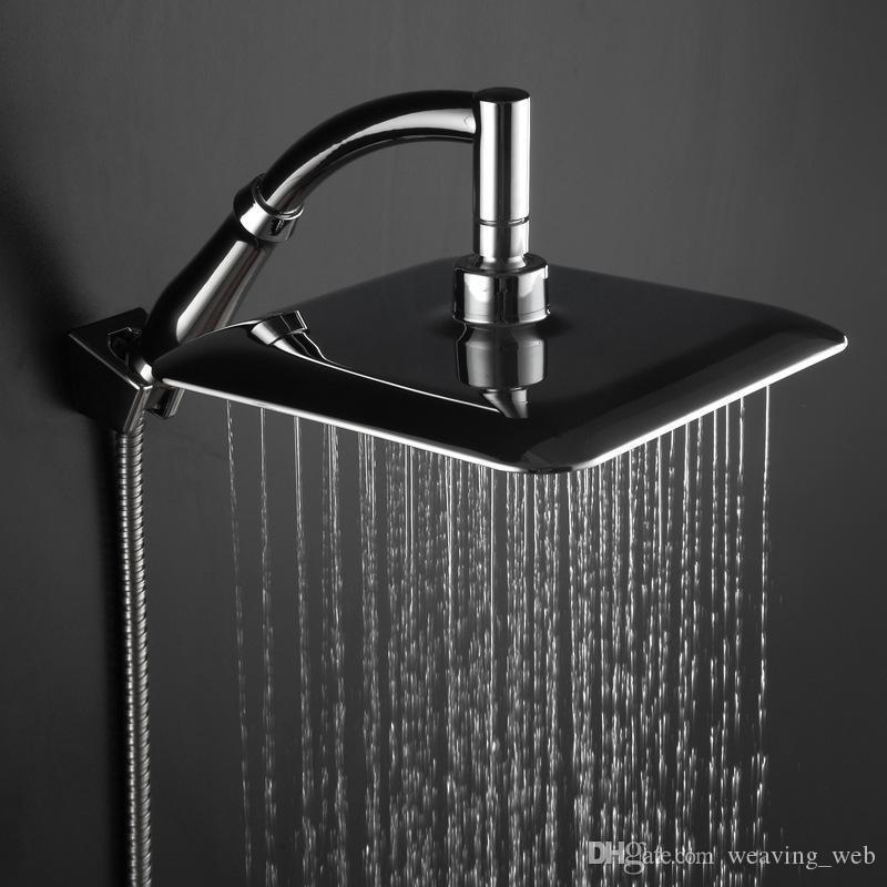 Cheapest!! wholesale 9 inches big size square rainfall showerhead universal watersaving hydrotherapy anion shower nozzle