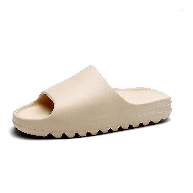 2020 New Hot Arrival Men's Beach Slippers Beige Black Fashion Slippers Slides for Men Yez Slipper1