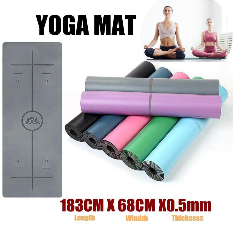 caucho natural, 5 mm, l/ínea de tirano Esterilla de yoga Mengzhong