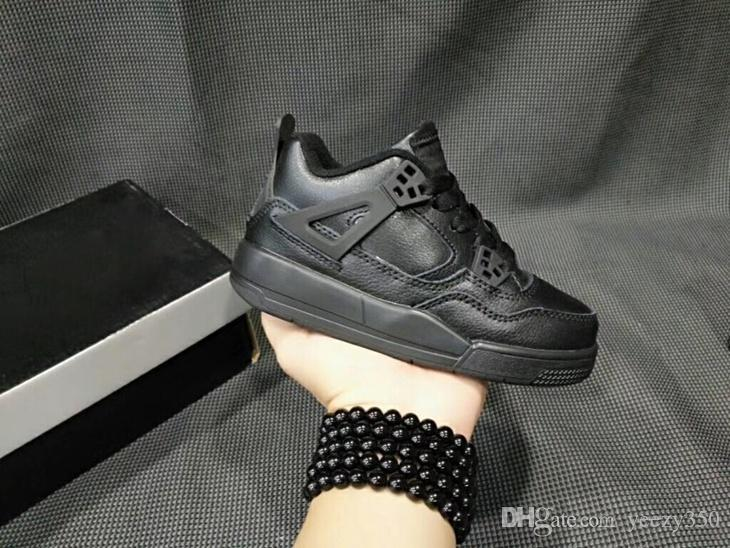 Kids Jumpman 4 IV Basketball Shoes Collection Children Outdoor sports Sneaker Black Cat Oreo White Bred Thunder Boy Girls 4 Athletic Sneaker