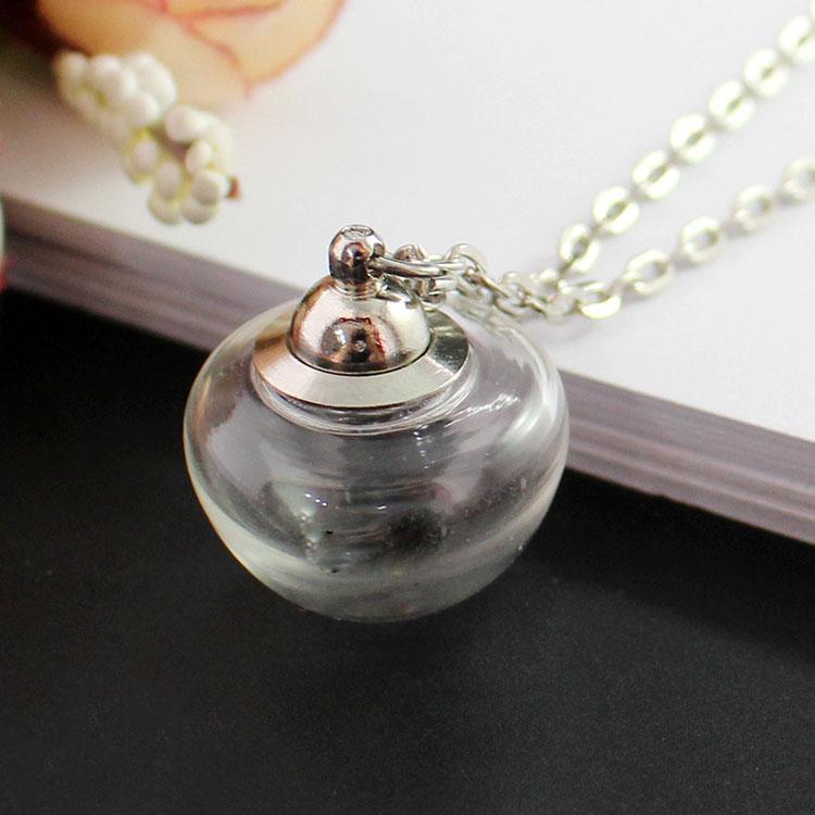 10pcs Handmade Heart//Mushroom Shape Glass Globe Vial Dome Cover Charms