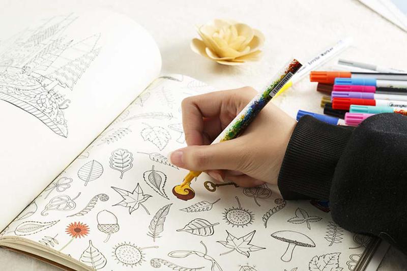 18 ColorsSet 0.7mm Acrylic Paint Marker pen for Ceramic Rock Glass Porcelain Mug Wood Fabric Canvas Painting Detailed Marking (34)