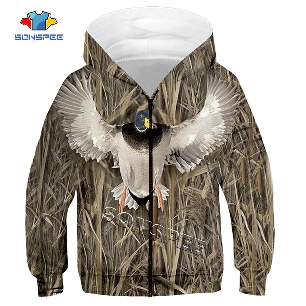 Child Zip Hoody Sweatshirt Top Camouflage Hunting Animal 3D Print Kids Fashion Zipper Hoodie Boy Baby Casual Streetwear Clothing (8)