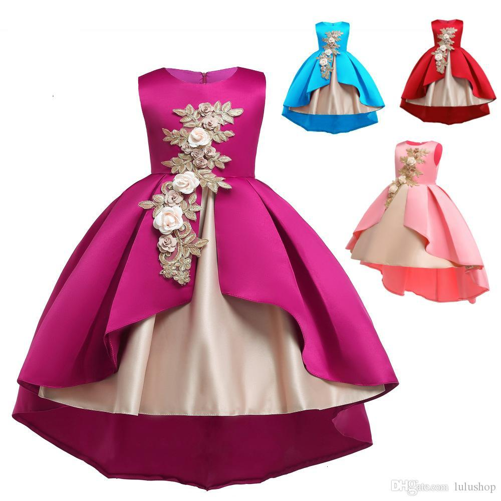 Kids Dresses For Girls Elegant Princess Dress Flower Girls Dresses For Party and Wedding Dress Summer Children Clothes 2-10 Year