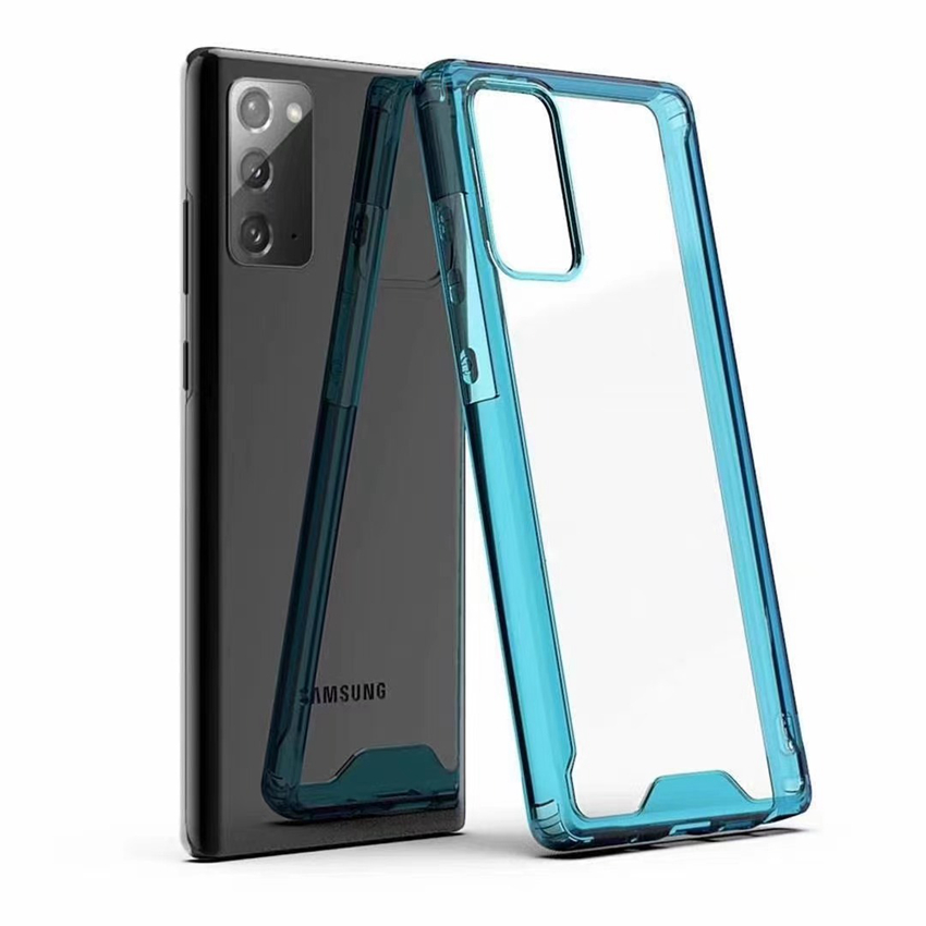 For LG Velvet 5G Moto G-Stylus-2021 G Power E7-Power G-Play-2021 Translucent Acrylic Phone Cases Cover Shockproof and Anti Drop Round Edge