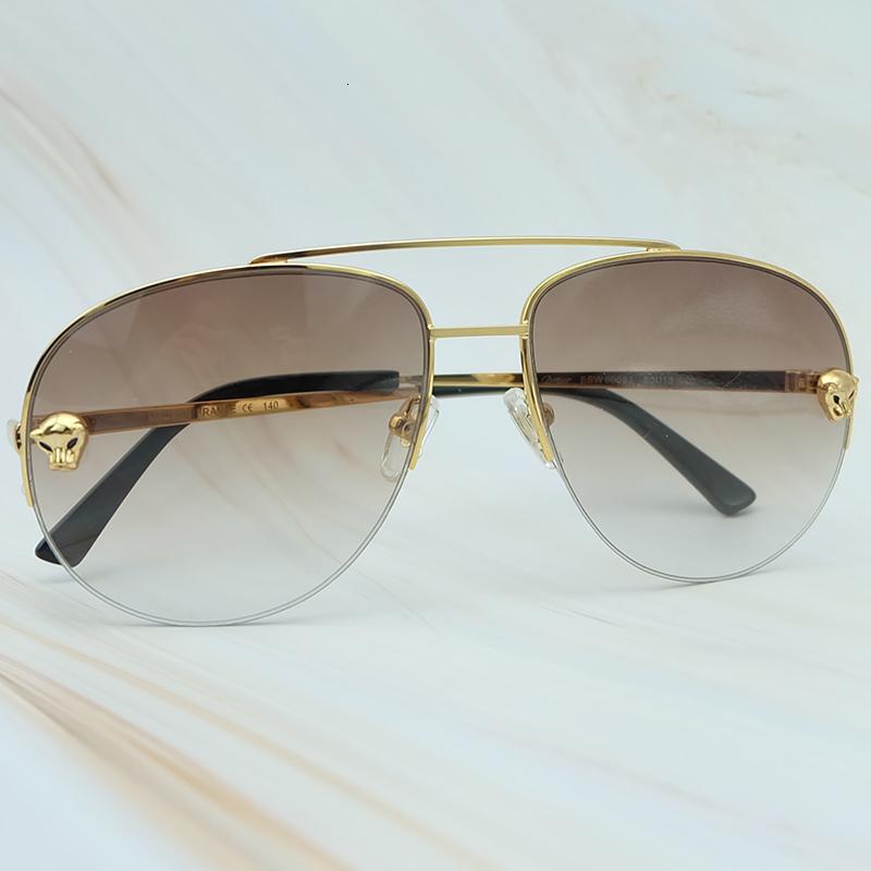 Metal Frame Luxury Carter Leopard Serious Mens Sunglasses Outdoor Driving Shades Leisure Brand Designer Sun Glass (3)