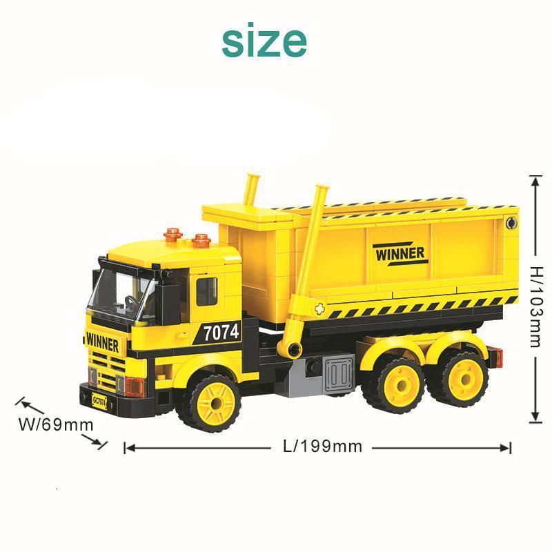 City Construction Dump Truck Building Blocks Sets Diy Bricks Educational Model Kids Christmas Gifts Toys For Children sqclTW bbgargden