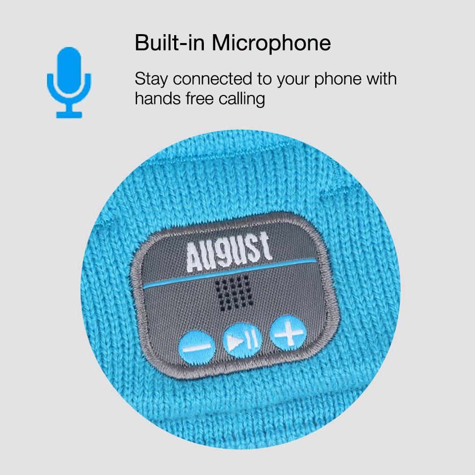 August EPA20L Bluetooth Beanie Cap with Microphone