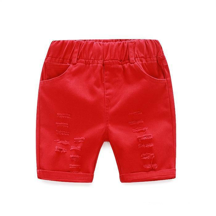 Boys Floral Sets Kids Clothing Summer Fashion Bow Flower T-shirt+Short Pants Yan-100 mc