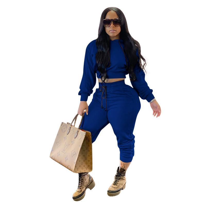 womens two piece set tracksuit shirt pants outfits long sleeve sportswear shirt trousers sweatsuit pullover tights sportswear hot klw5372