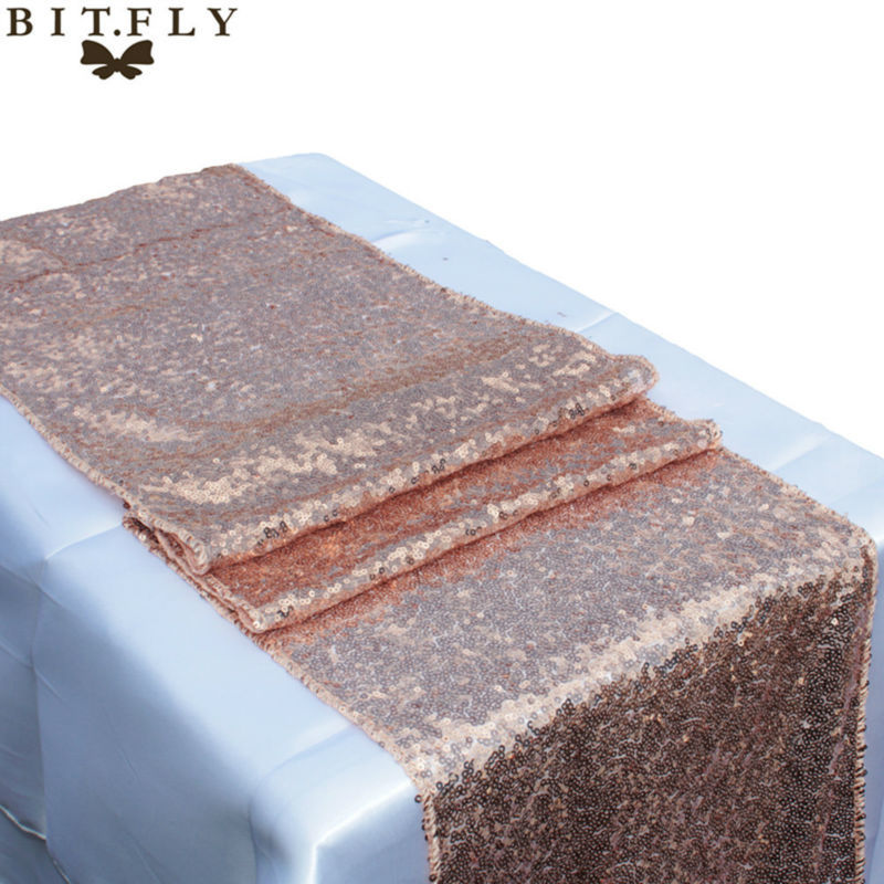 New-Brand-Champagne-Rose-gold-Silver-Gold-Sequin-Table-Runner-For-Wedding-Event-Party-Banquet-Christmas (3)