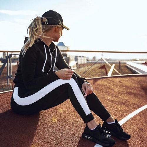 Women-039-s-Sports-YOGA-Workout-Gym-Fitness-Leggings-Pants-Jumpsuit-Athletic-Clothes