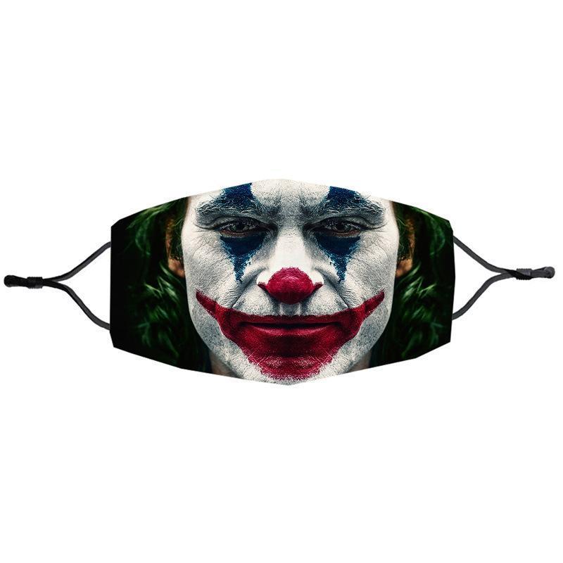 Kid Children Hot Clown Face Mask Reusable Print Washable Dust Warm Windproof Cotton Adjustable Festive Party Mask