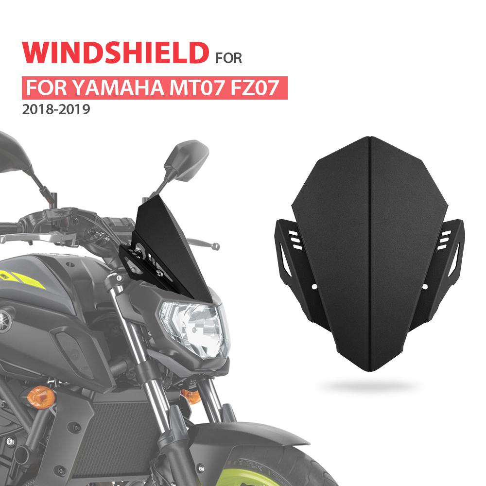 Artudatech Moto Parabrezza Anteriore Parabrezza Moto Deflettore Parabrezza Deflettori Windshield Windscreen per YAMAHA MT-07 FZ-07 2018-2019