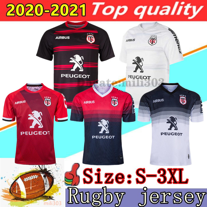 New 2020 2021 Toulouse Home away Rugby Jerseys 19/20/21 STADE TOULOUSAIN RUGBY Maillot Camiseta Maglia training shirt