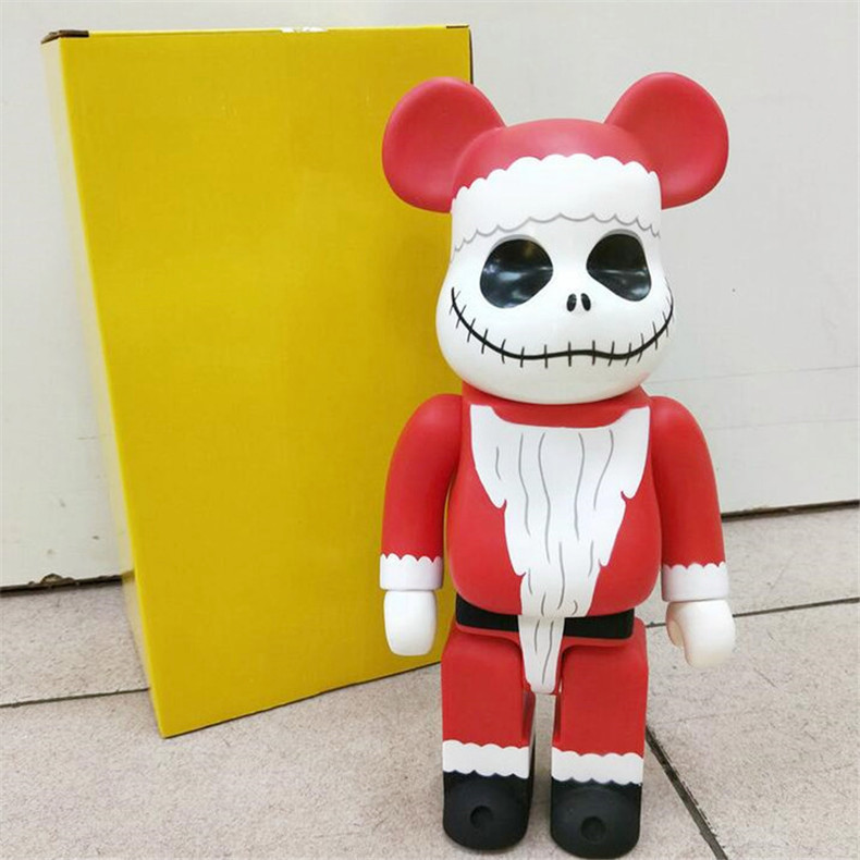 HOT 400% 28CM Bearbrick Santa Claus and Pumpkin prince jack bear figures Toy For Collectors Be@rbrick Art Work model decoration toys gift
