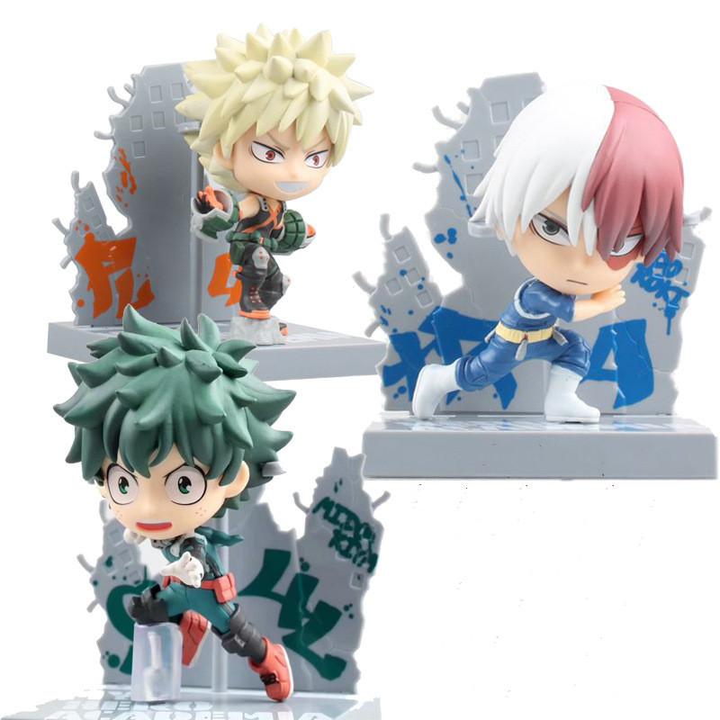 My Hero Academia Anime Figures Midoriya Izuku Bakugou Kacchan Todoroki Cute Toys Ichiban Action Figma Boku no Hero Academia Doll
