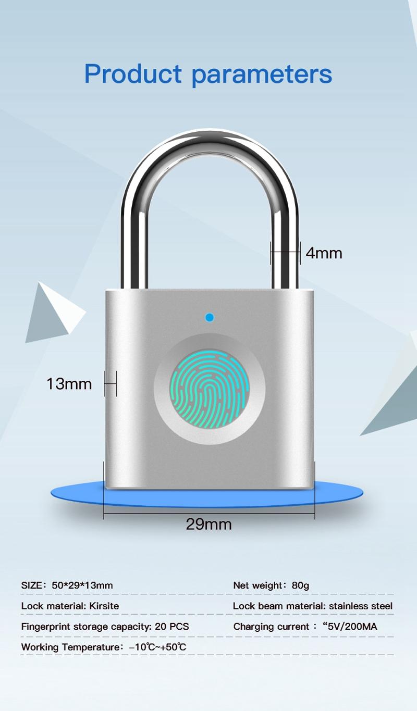 Smart Fingerprint Padlock 10